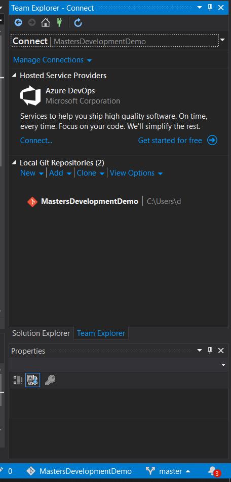 Connect a Repo to Visual Studio