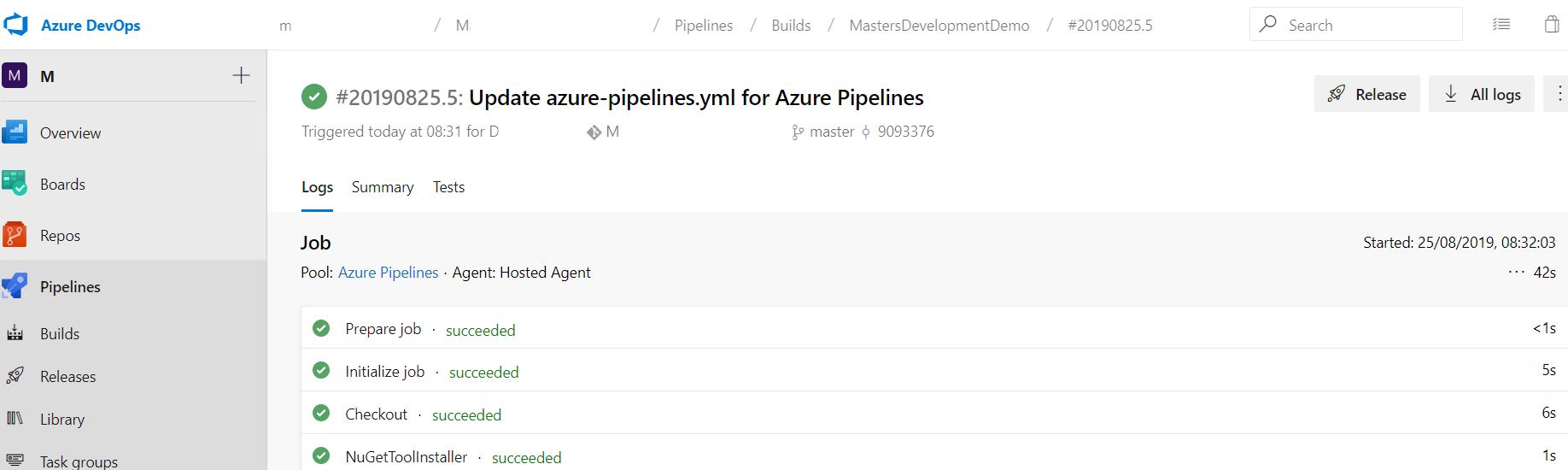 Review Build Pipe Azure DevOps